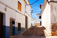 Ordinary street of El Toboso Stock Photography