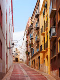 Ordinary street of european town. Tarragona Stock Images