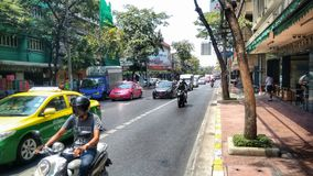 Ordinary street in heart of Bangkok Royalty Free Stock Images