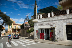 Ordinary  street in mountains district. Barcelona Stock Photography