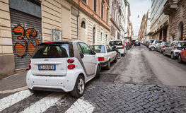 Ordinary street in old Rome Stock Images