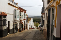 Ordinary  street in spanish town. Olvera Royalty Free Stock Images
