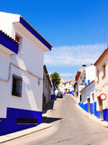 Ordinary street of  town in La Mancha Stock Photography