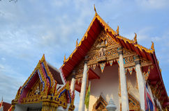 Ordinary thai temple and gate Royalty Free Stock Image