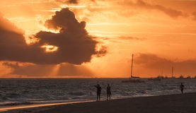 Ordinary tourists in morning sunlight, Punta Cana Stock Image