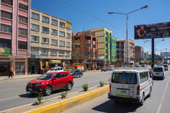 Ordinary traffic in the streets of La Paz, Bolivia