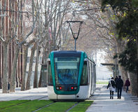 Ordinary tramway in Barcelona Royalty Free Stock Photography
