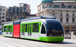 Ordinary tramway in Bilbao Royalty Free Stock Photos