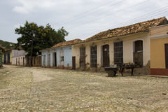 Ordinary view of a street on Cuba Royalty Free Stock Images