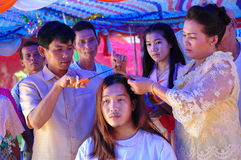 Ordinate procession. Ordinations priest neophyte ecclesiastic thailand  ordain ordinate procession Royalty Free Stock Photography