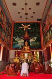 Ordinate procession. Ordinations priest neophyte ecclesiastic thailand  ordain ordinate Royalty Free Stock Photo
