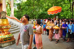 Ordinate procession. Ordinations priest neophyte ecclesiastic thailand  ordain ordinate procession Stock Image