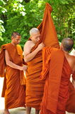 Ordinate procession. Ordinations priest neophyte ecclesiastic thailand  ordain ordinate procession Royalty Free Stock Image