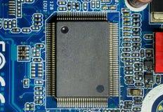Ordinateur électronique de puce : circuits intégrés sur la carte mère photographie stock