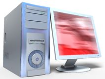 ordinateur 3d Photo stock