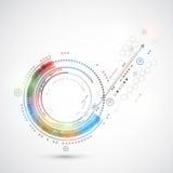Ordinateur abstrait de fond de technologie de couleur/thème de technologie Images libres de droits