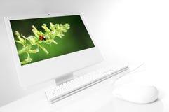 Ordinateur blanc Photographie stock libre de droits