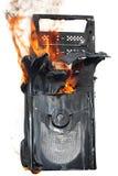 ordinateur brûlant de cas Photos libres de droits