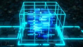 Ordinateur de étude profond d'AI illustration de vecteur