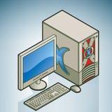 Ordinateur de bureau à la maison/petit Photos libres de droits