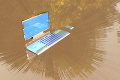 Ordinateur de bureau Image libre de droits