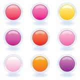 ordinateur de couleurs de boutons chaud illustration libre de droits