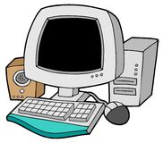 ordinateur de dessin animé Image libre de droits