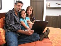 Ordinateur de famille Photographie stock libre de droits