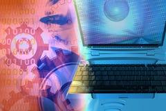 ordinateur de fond Images libres de droits