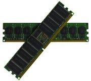 Ordinateur de mémoire RAM de la RDA de quelques modules sur le fond blanc Images stock