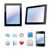 Ordinateur de mobile et de tablette illustration de vecteur