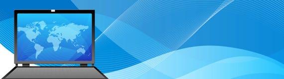 Ordinateur de multimédia d'en-tête de Web illustration de vecteur