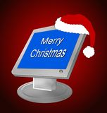 ordinateur de Noël Images libres de droits