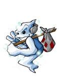 Ordinateur de secours d'aviateur de réception de veille de la toussaint d'houblon de gratte-cul Illustration Libre de Droits