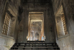 ordinateur de secours dans Angkor Wat, Cambodge Photos stock