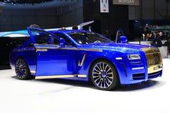 Ordinateur de secours de Mansory Rolls Royce Photographie stock libre de droits