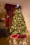Ordinateur de secours de Noël au delà photos stock