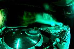 Ordinateur de secours du DJ Photo libre de droits