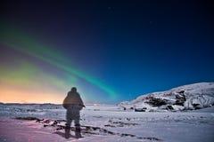 Ordinateur de secours en Islande Image libre de droits