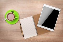 Ordinateur de tablette avec l'écran blanc Images libres de droits