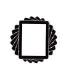 Ordinateur de tablette d'écran tactile avec l'écran blanc Photos stock
