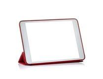 Ordinateur de tablette d'isolement sur les milieux blancs Ipade - comme le PC photo stock