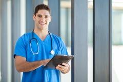 Ordinateur de tablette de soins de santé photographie stock