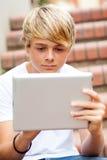 Ordinateur de tablette à l'extérieur Image libre de droits