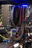 Ordinateur de tour à l'intérieur Image stock