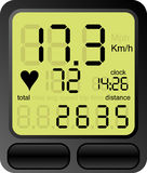 Ordinateur de vélo Photographie stock libre de droits