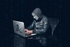 Ordinateur entaillant et de utilisation anonyme de masquage pour entailler des mots de passe photos stock