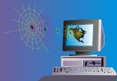 Ordinateur et Web Image libre de droits