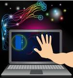 Ordinateur informatique de technologie d'Internet de la vie illustration stock
