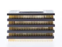 ordinateur pile micro de processeurs image stock